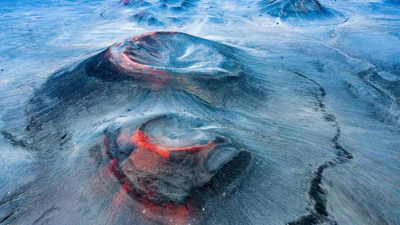 Spanish electrician and photographer Fran Rubia was the winner of the Landscapes, Waterscapes, and Flora category with his drone image titled 'Another Planet' of an extinct volcano in the Fjallabak Nature Reserve, Iceland. The red visible in the image is iron oxide that is being hit byIceland's midnight sun.