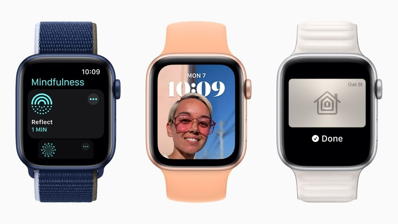 WatchOS 8 now lets you customise watch face – to some extent. Image: Apple
