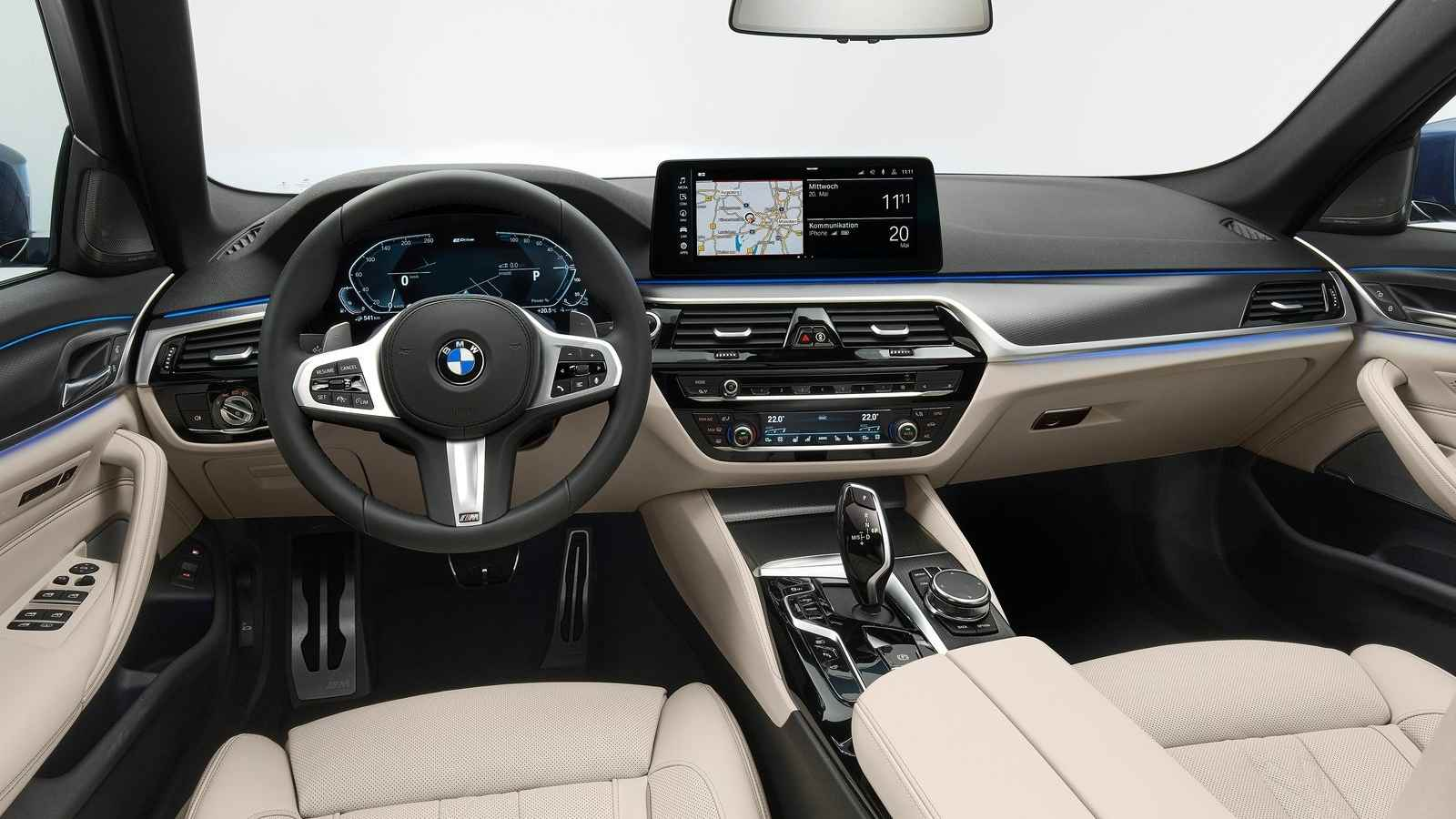 Most of the updates to the 2021 BMW 5 Series are on the inside. Image: BMW