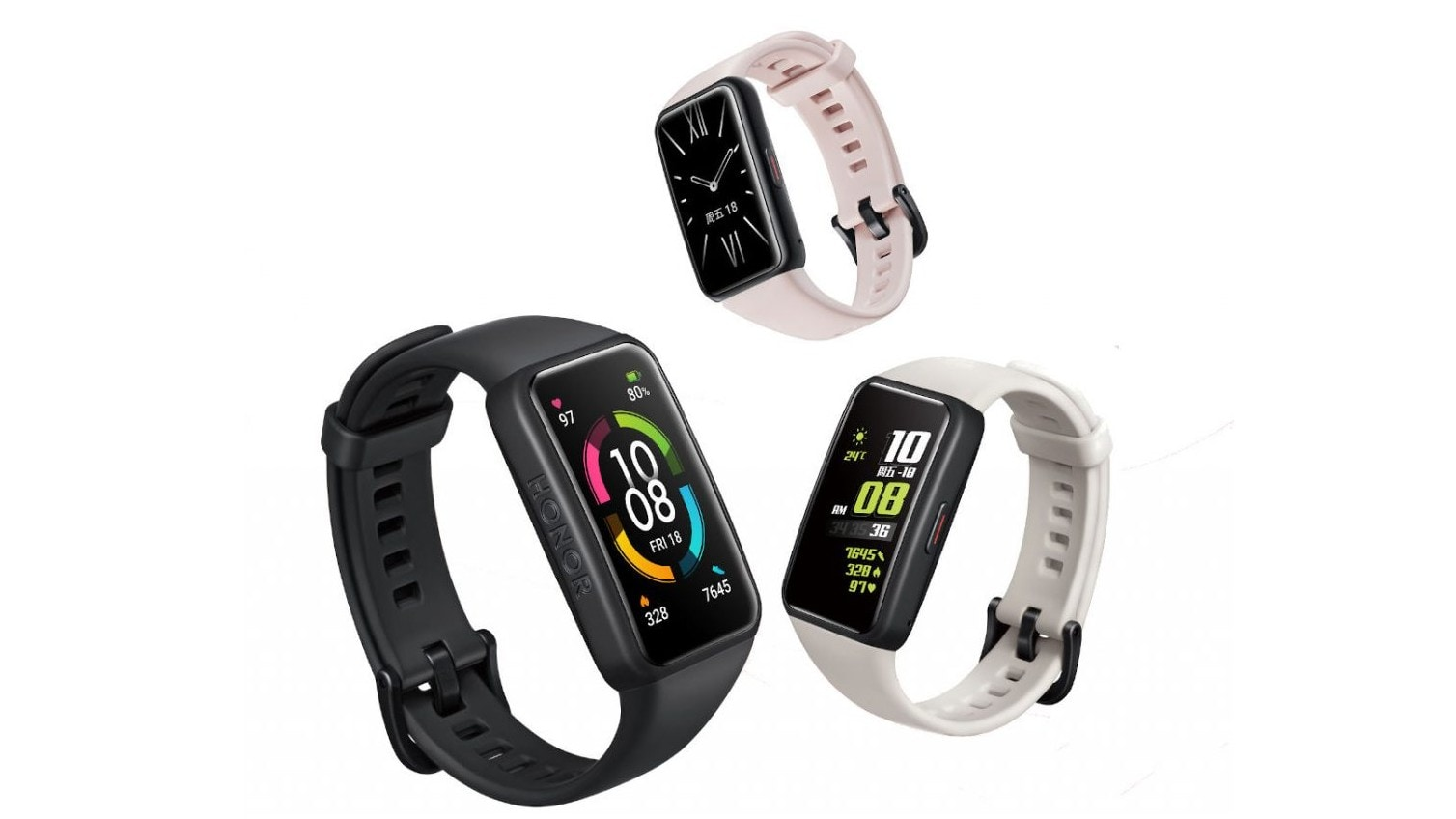 The Honor Band 6 features 2.5D curved glass protection, all-day heart rate monitoring, sleep tracking and SpO2 monitoring. Image: Honor