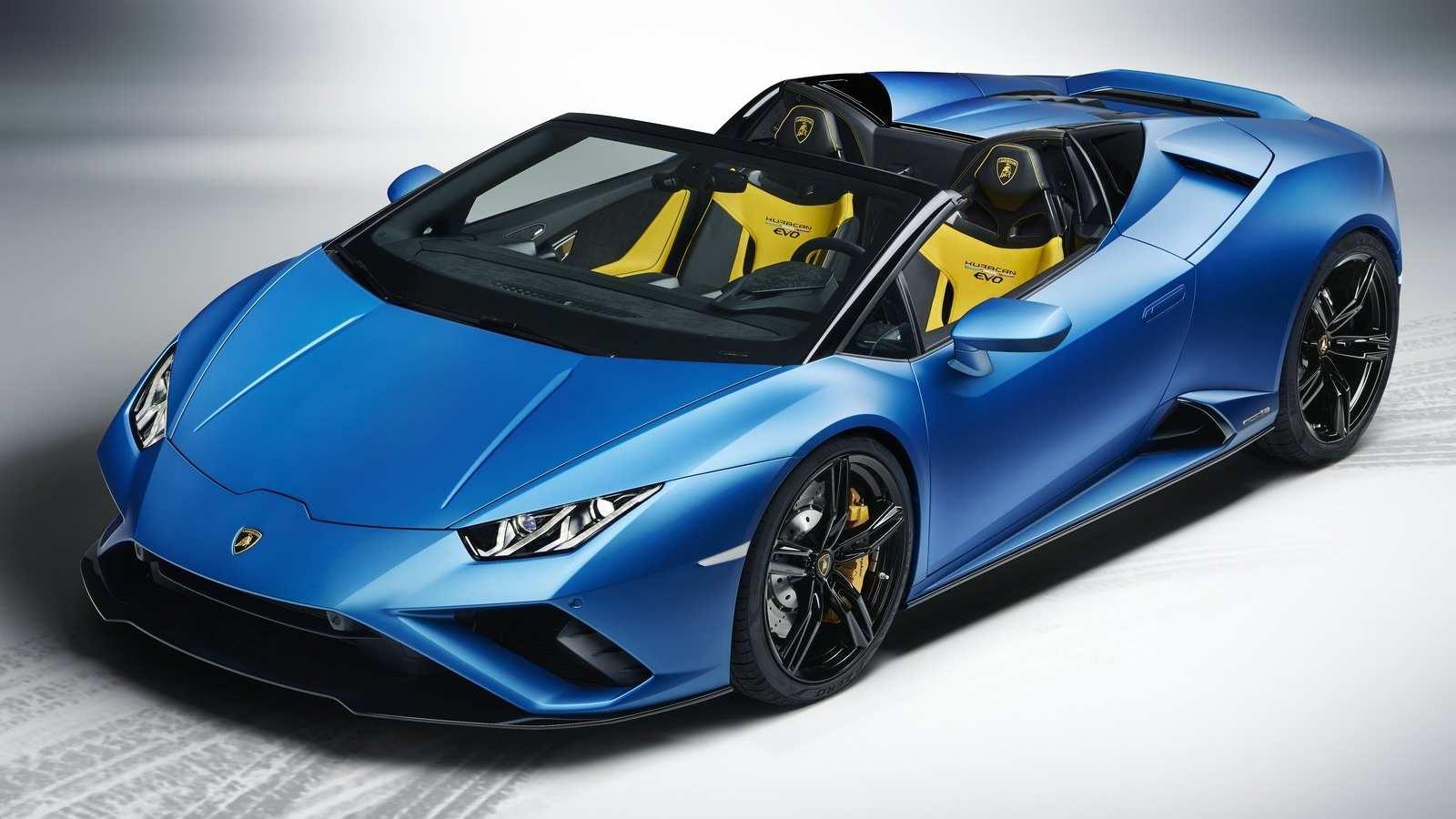 The Lamborghini Huracan EVO RWD Spyder can do 0-100 kph in a claimed 3.5 seconds. Image: Lamborghini