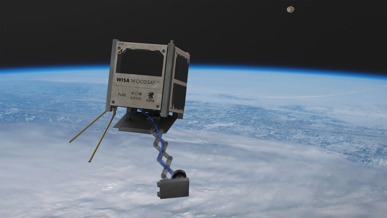 The world's first wooden satellite is on the way, in the shape of the Finnish WISA Woodsat. Image credit: ESA/Arctic Astronautics