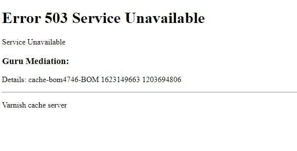 At the time of writing the story, accessing Quora showed the 503 error. Image: tech2