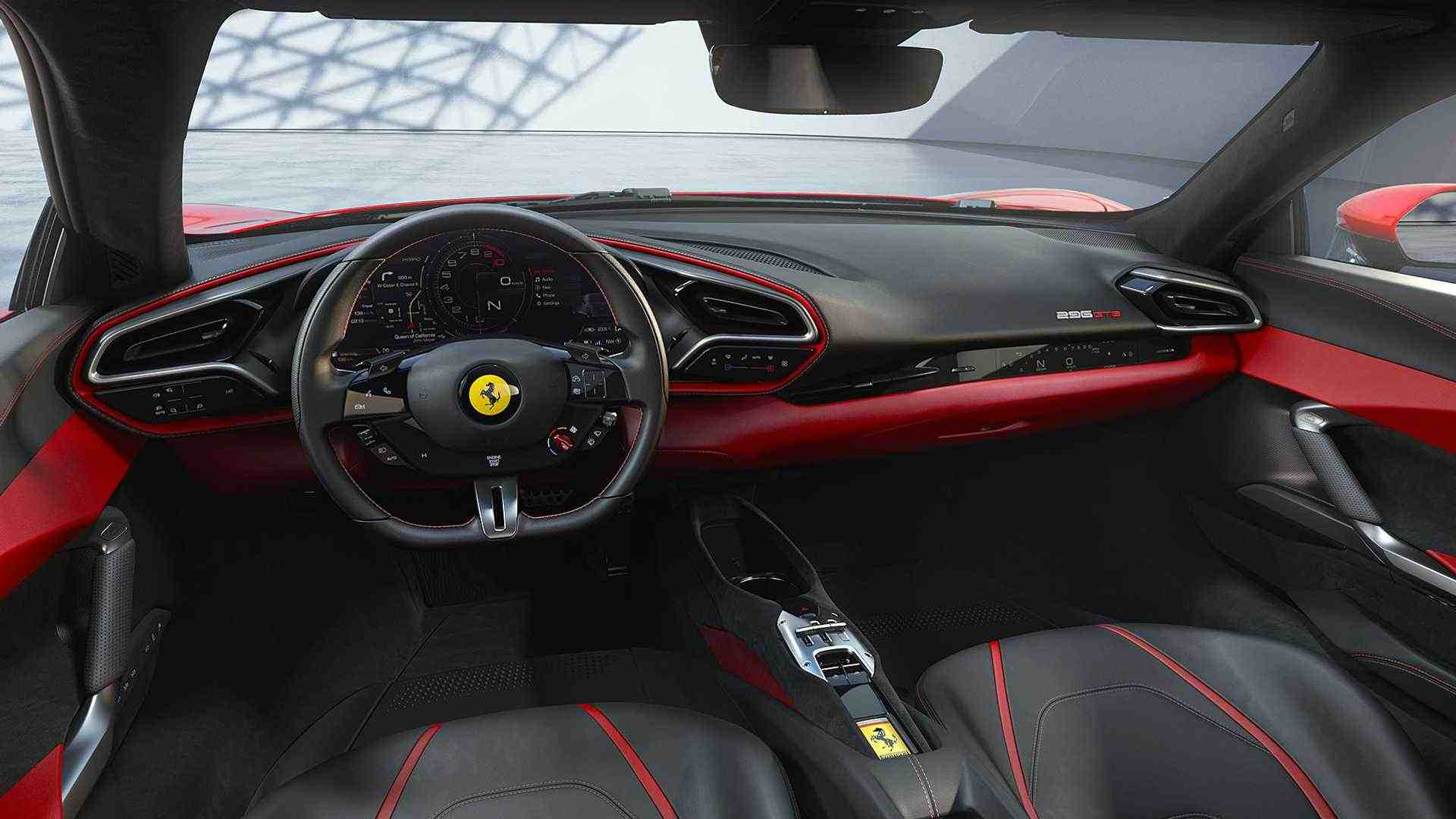 A peek inside the Ferrari 296 GTB. Image: Ferrari