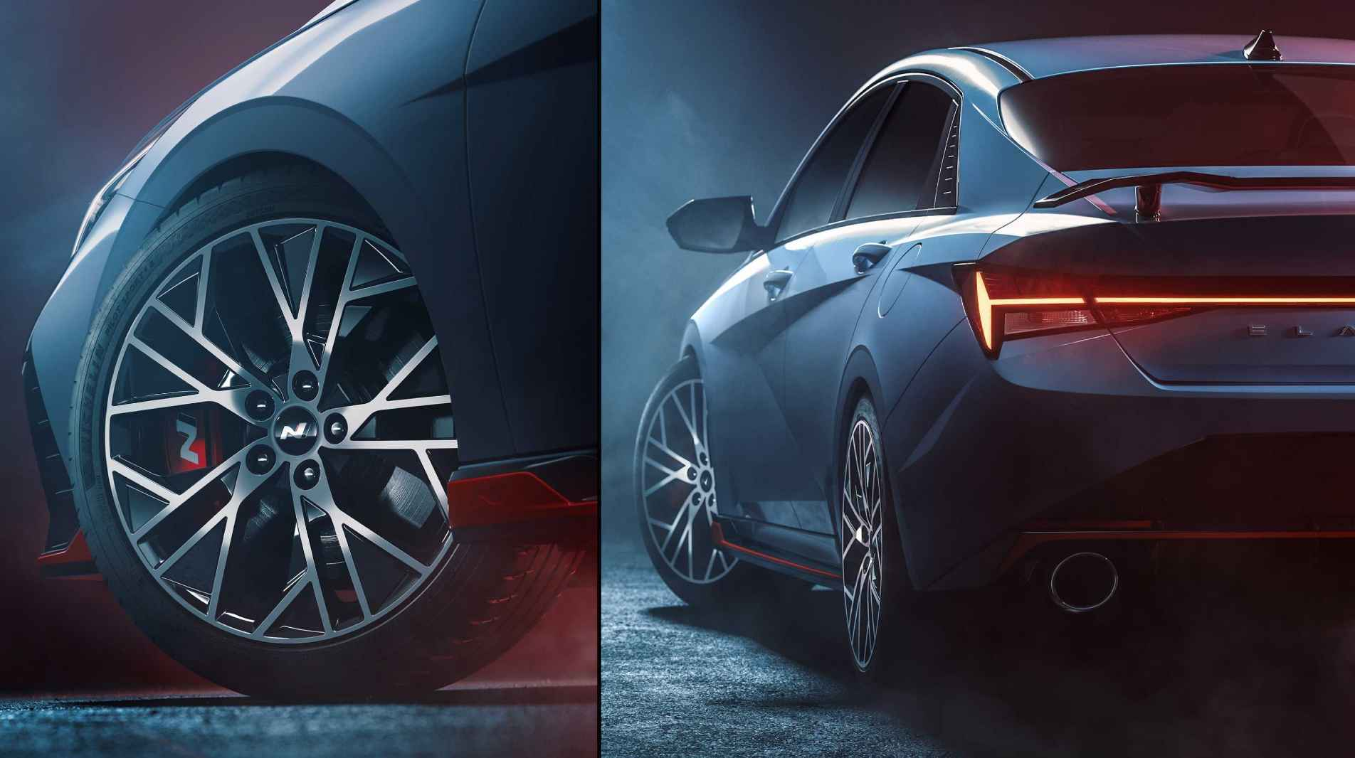 Larger wheels and a full-size rear spoiler will be standard on the Hyundai Elantra N. Image: Hyundai