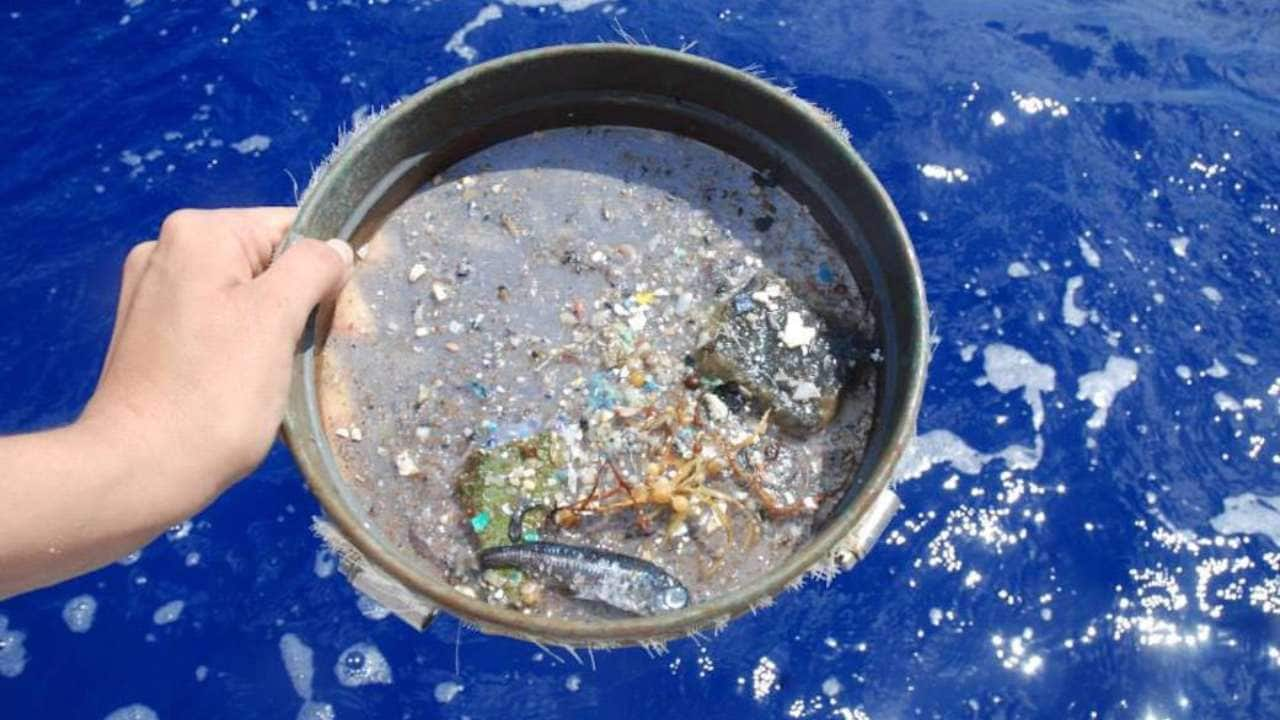 Every year, around eight million tons of plastic waste enters the ocean.  Image credit: NASA