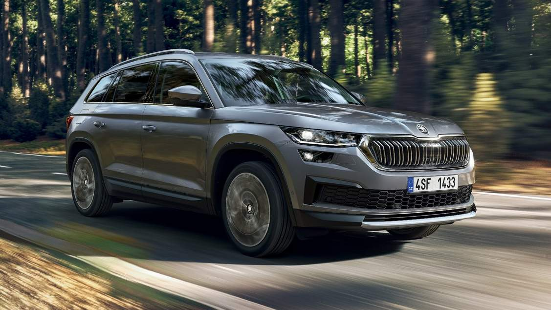 LED Matrix headlights will be offered as an option on the Skoda Kodiaq facelift abroad. Image: Skoda