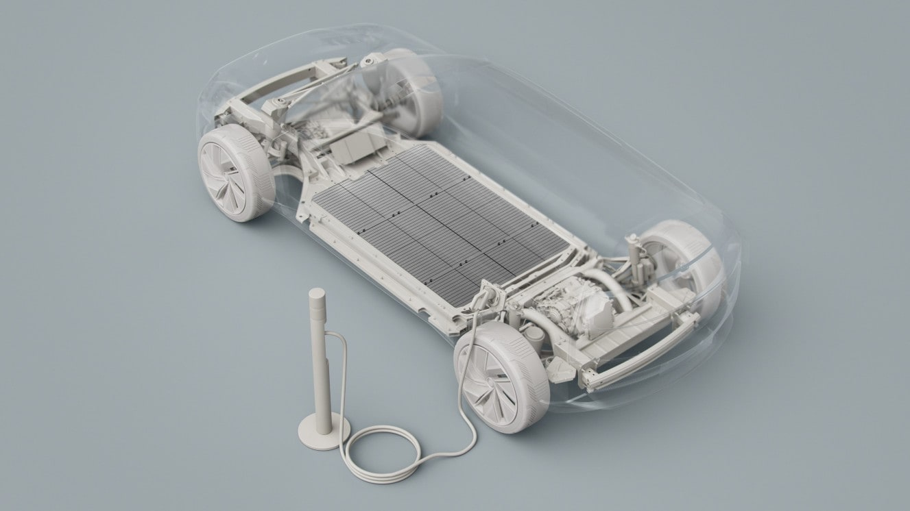 A new battery plant co-founded in partnership with Northvolt will enable Volvo to roll out 800,000 EVs a year. Image: Volvo Cars