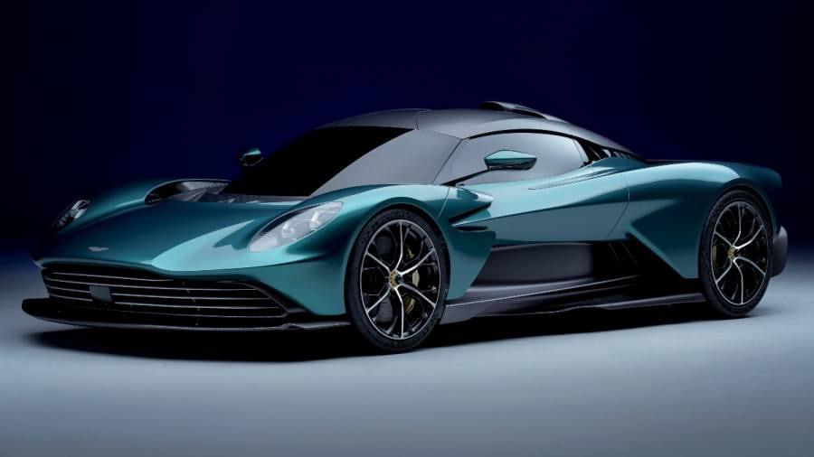 The Aston Martin Valhalla's V8 engine is sourced from Mercedes-AMG. Image: Aston Martin