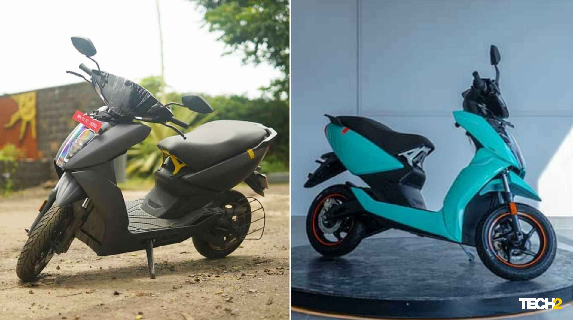 The Ather 450 range now starts at Rs 1.03 lakh (ex-showroom) in Maharashtra. Image: Ather Energy