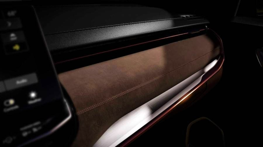 Jeep will employ a mix of different colours and materials for the Meridian's interior. Image: Jeep