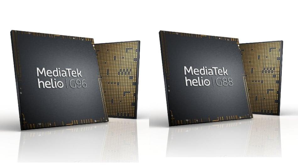 The Mediatek Helio G96 and G88 SoCs.
