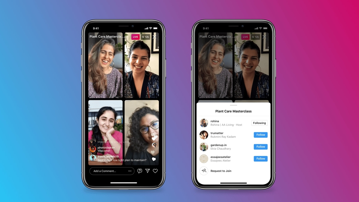 Instagram introduces Live Rooms that will let up to four users participate in a live session simultaneously