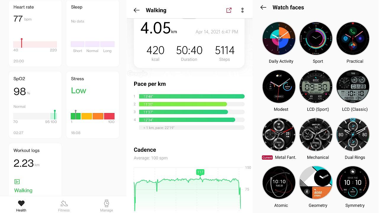 OnePlus Health app. Image: Tech2/Ameya Dalvi