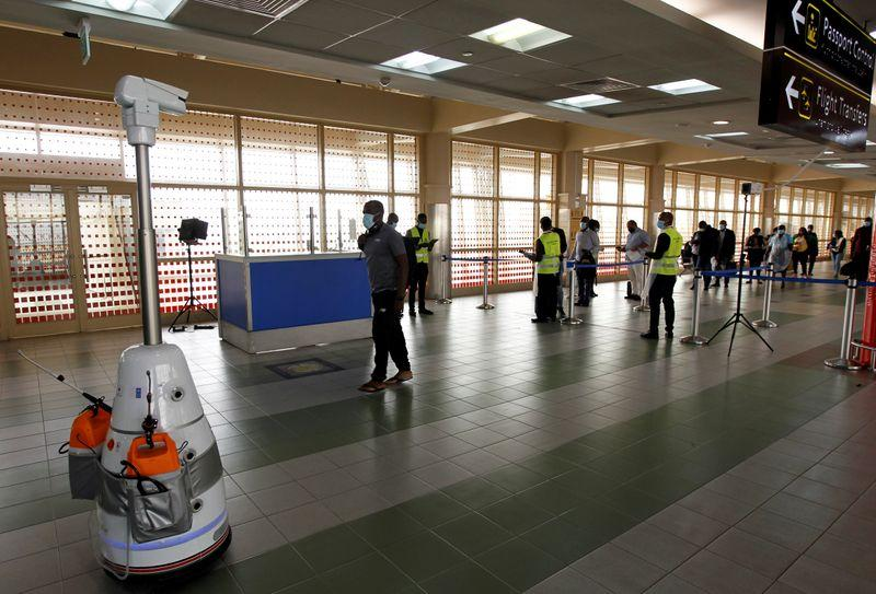 Airport robots give hi-tech boost to Kenyas COVID-19 fight