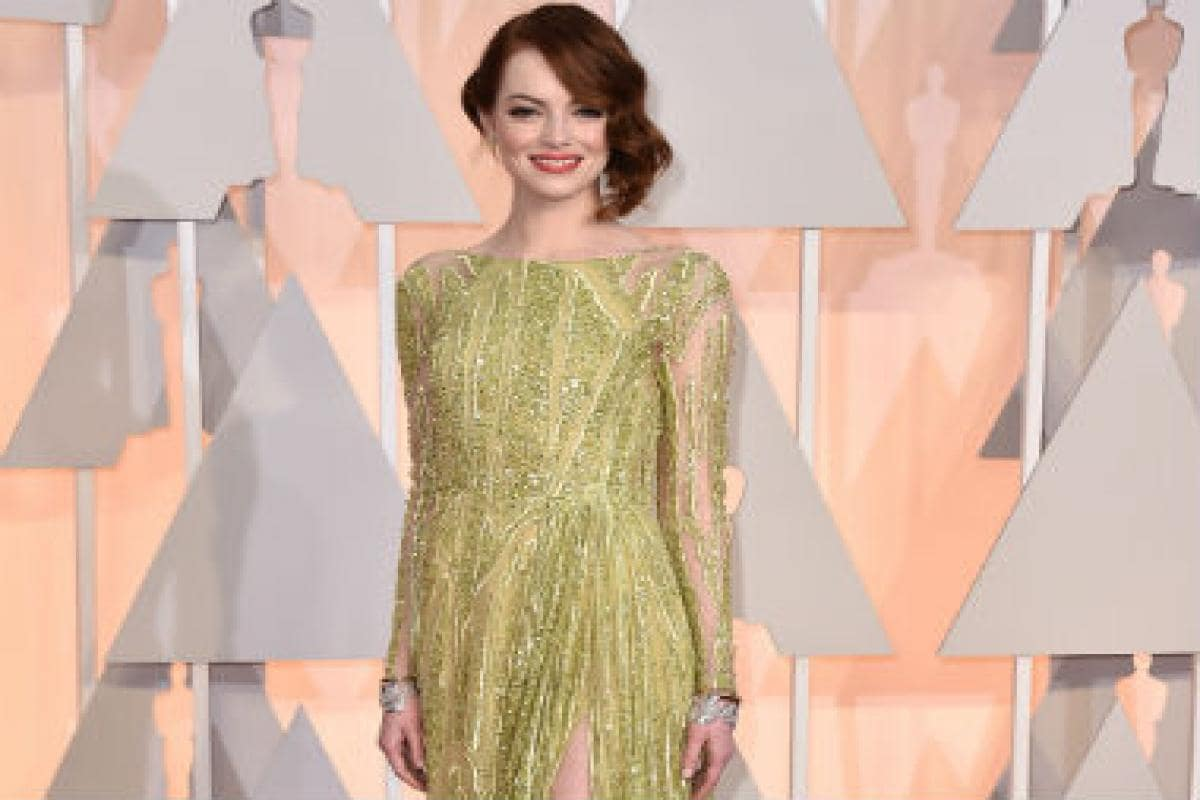 2134cf1a9 Oscars 2015 red carpet: Black and white dominate, but Emma Stone stuns in  Elie Saab gown - Firstpost