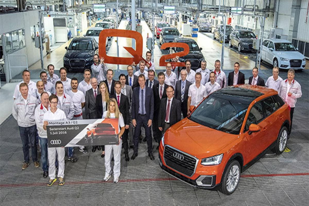 Audi begins production of India-bound Q10 SUV at Ingolstadt ... | audi car manufacturing plant in india