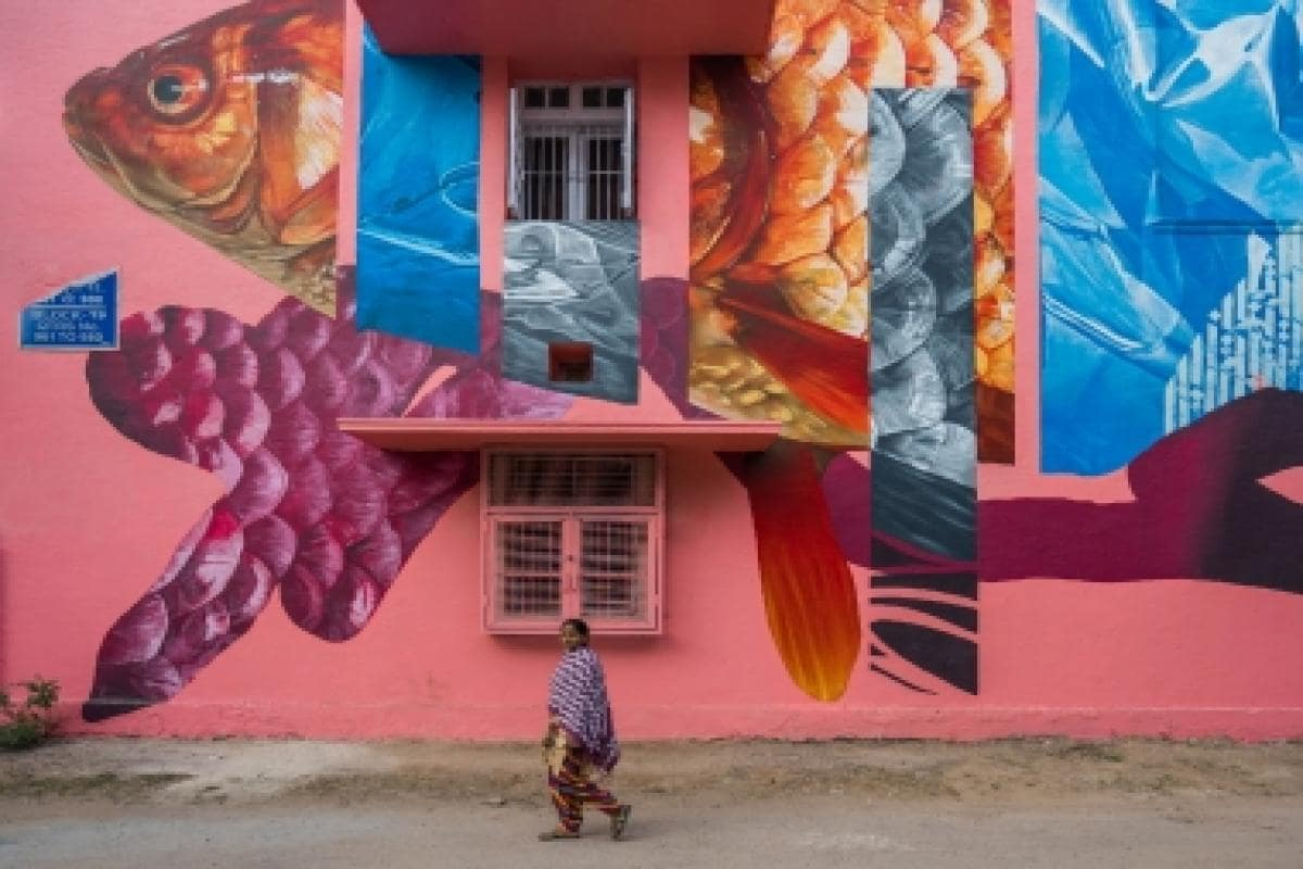 It Takes Village To Paint Mural Sharon >> Delhi S Lodhi Colony Turns Into An Art District As 30 Artists Paint
