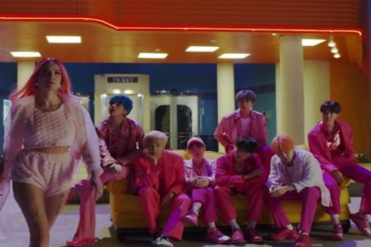 BTS, Halsey's 'Boy With Luv' music video breaks YouTube record for