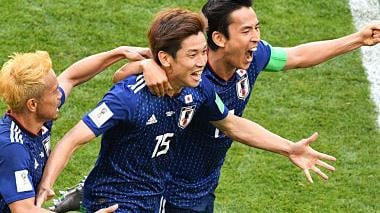 FIFA World Cup 2018: Yuya Osako heads Japan to historic win over 10-man Colombia in Group H opener
