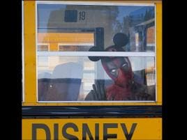 Ryan Reynolds's Deadpool celebrates Disney-Fox merger with photo of him donning Mickey Mouse ears