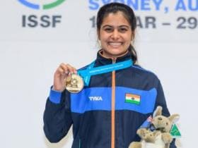 Manu Bhaker, Gaurav Rana lead India's charge with gold and silver in 10m air pistol category at ISSF Junior World Cup