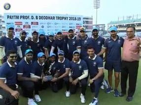 Deodhar Trophy 2018: Ajinkya Rahane hits ton as India C trounce India B to lift trophy
