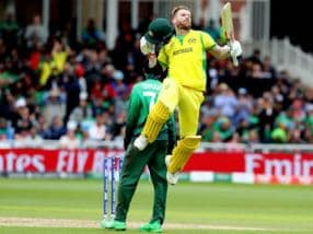 David Warner's splendid knock against Bangladesh takes Australia to top of World Cup standings
