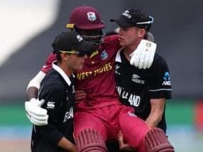 Watch: In heartwarming gesture, New Zealand players carry injured West Indies batsman off field during U-19 World Cup