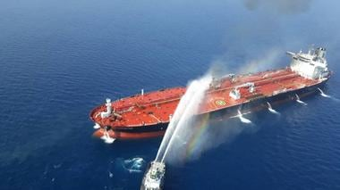 Oil prices shoot up by 2% after two tankers go up in flames following attack; US blames Iran for strike