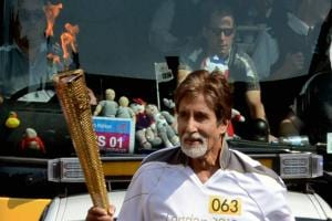 Images: Amitabh Bachchan, India's Olympic torch bearer