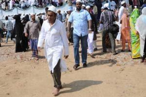 Eid Images: AR Rahman walks barefoot to Chennai's Triplicane mosque