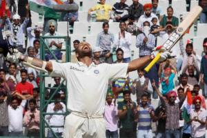 Images: Dhawan steals the show on Test debut