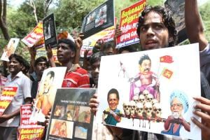 Images: SFI students in Chennai demand action against Sri Lanka