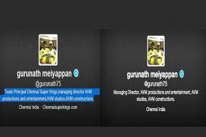Before and after: Gurunath Meiyappan's mutating Twitter profile
