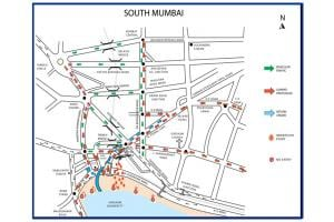Photos: Mumbai traffic maps for Ganesh Visarjan