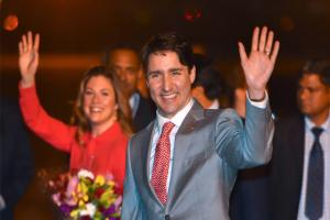 Canadian prime minister Justin Trudeau arrives in New Delhi on eight-day trip to India