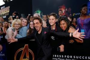 Avengers: Infinity War stars Robert Downey Jr, Chadwick Boseman attend film's premier in LA
