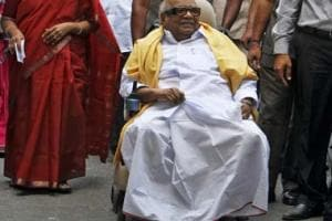 M Karunanidhi hospitalised in Chennai; friends and supporters express concern, swarm Kauvery Hospital
