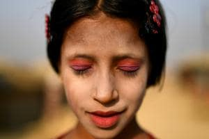 Mirror, mirror: A glimpse into Rohingya women's use of thanaka paste on their faces