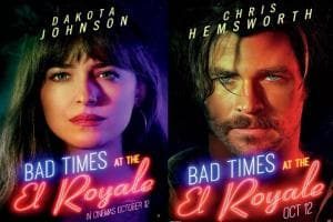 Bad Times at the El Royale character posters featuring Chris Hemsworth, Dakota Johnson, Jon Hamm unveiled