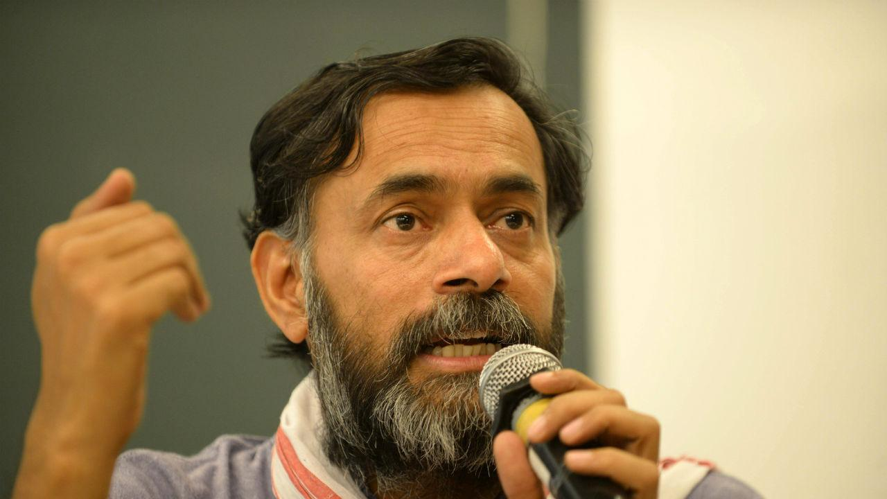 'Modi sees white cap, hijab during anti-CAA protests, not the tricolour': Yogendra Yadav joins Jitendra Ahwad, Umar Khalid at Bhiwandi agitation - Firstpost