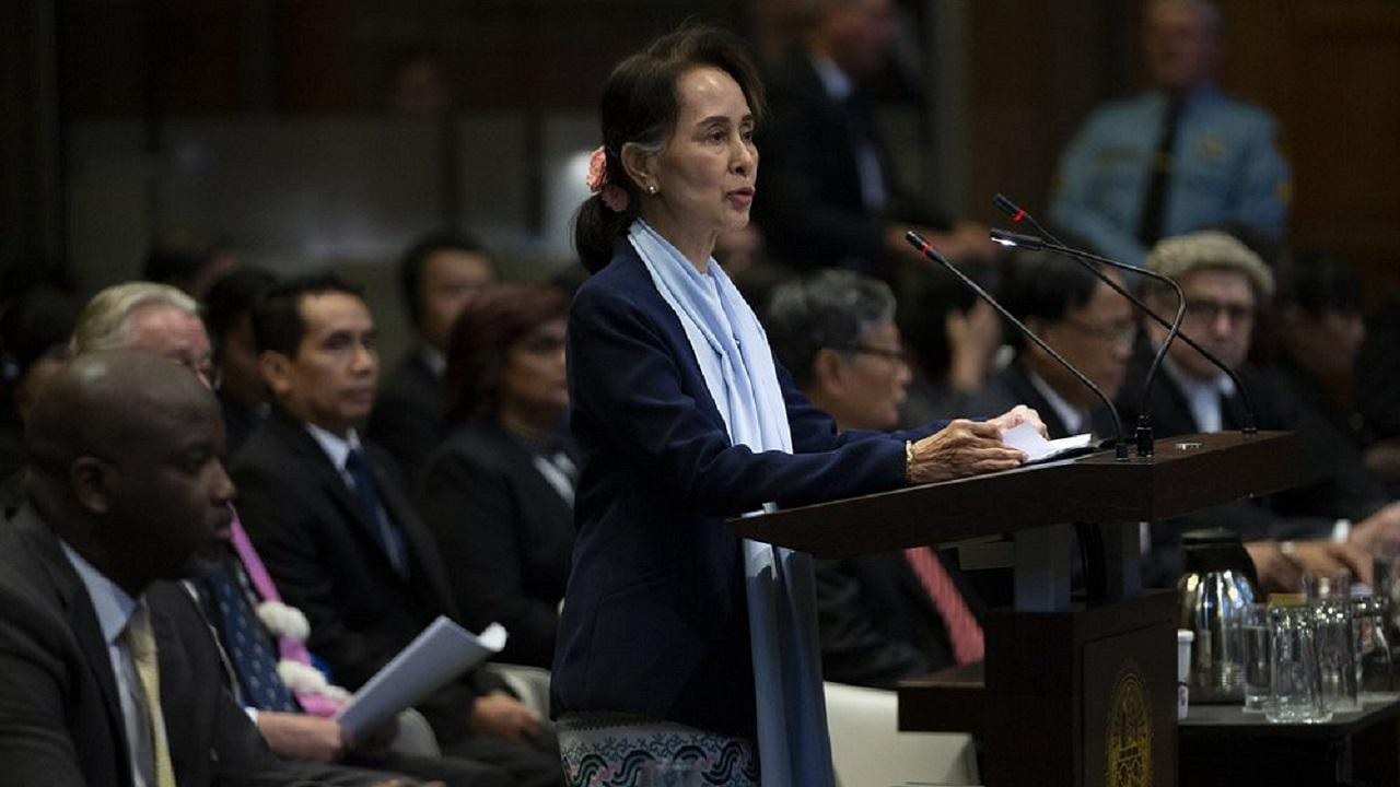 Aung San Suu Kyi denies allegations of genocide against Rohingya community at ICJ, says 2017 exodus was result of battle with insurgents - Firstpost