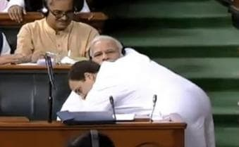 No-confidence motion in Parliament: Rahul Gandhi's hugs Narendra Modi, Rajnath Singh hits back at Opposition