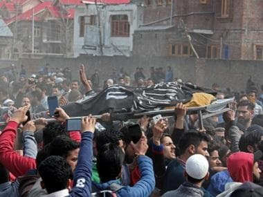 Islamic State flags seen at militant's funeral in Kashmir but clerics, politicians deny group is gaining ground in Valley