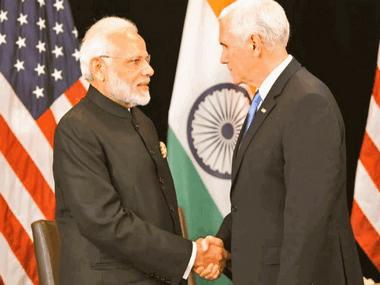 Narendra Modi meets Mike Pence in Singapore, holds talks on terror, defence trade and Indo-Pacific cooperation