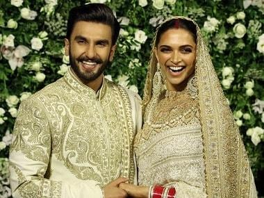 Deepika Padukone, Ranveer Singh wedding reception: Couple goes regal in white and gold colour coordinated ensemble