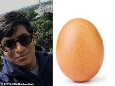 Ishan Goel, 19-year-old marketing expert of Indian origin, is the brains behind the egg which broke the internet