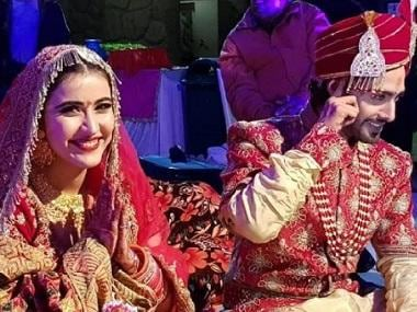 Television actors Sheena Bajaj, Rohit Purohit get married in Jaipur after four years of relationship