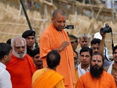Denied permission to land chopper, Yogi Adityanath heads to Purulia rally venue on road; suspected TMC workers block route to event